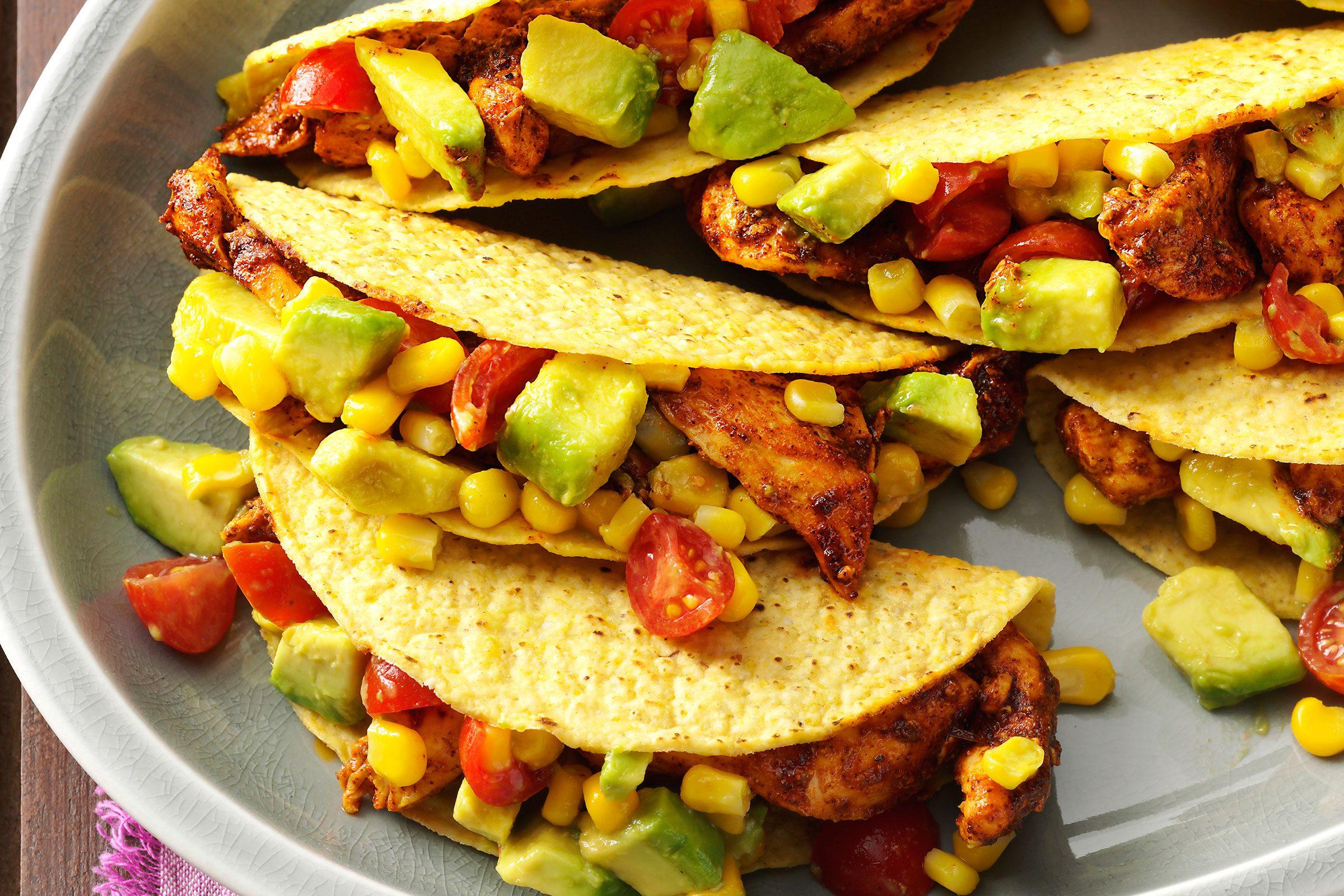 taco tuesday Chicken Tacos with Avocado Salsa