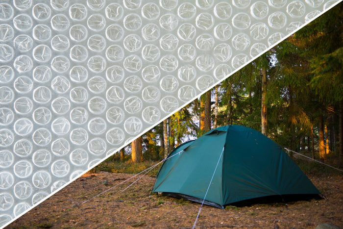 tent camping bubble wrap uses