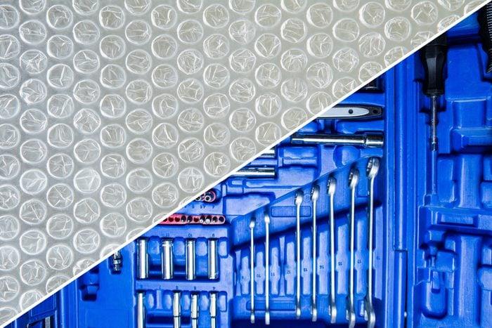 tools bubble wrap
