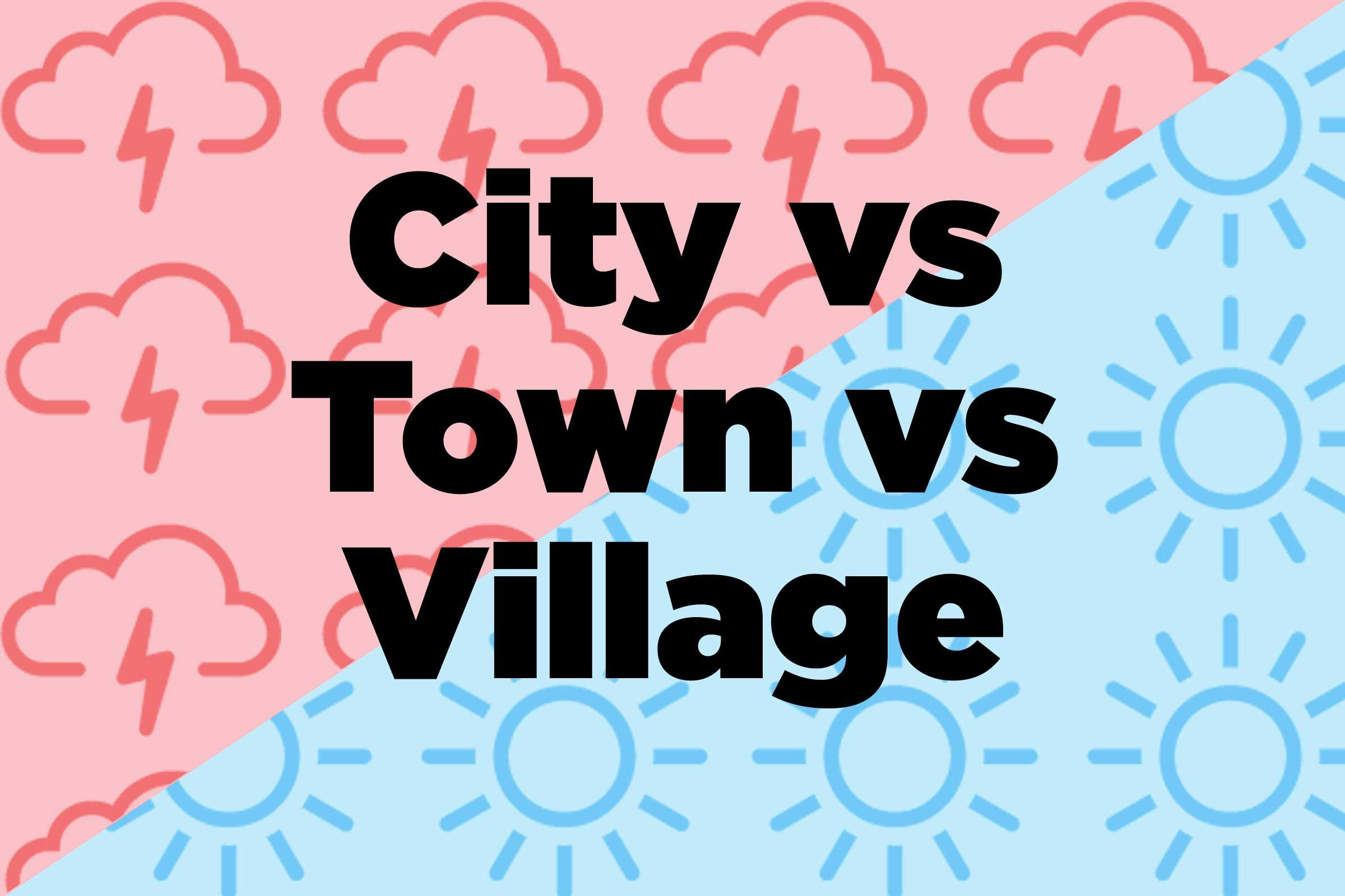 the difference between city and town