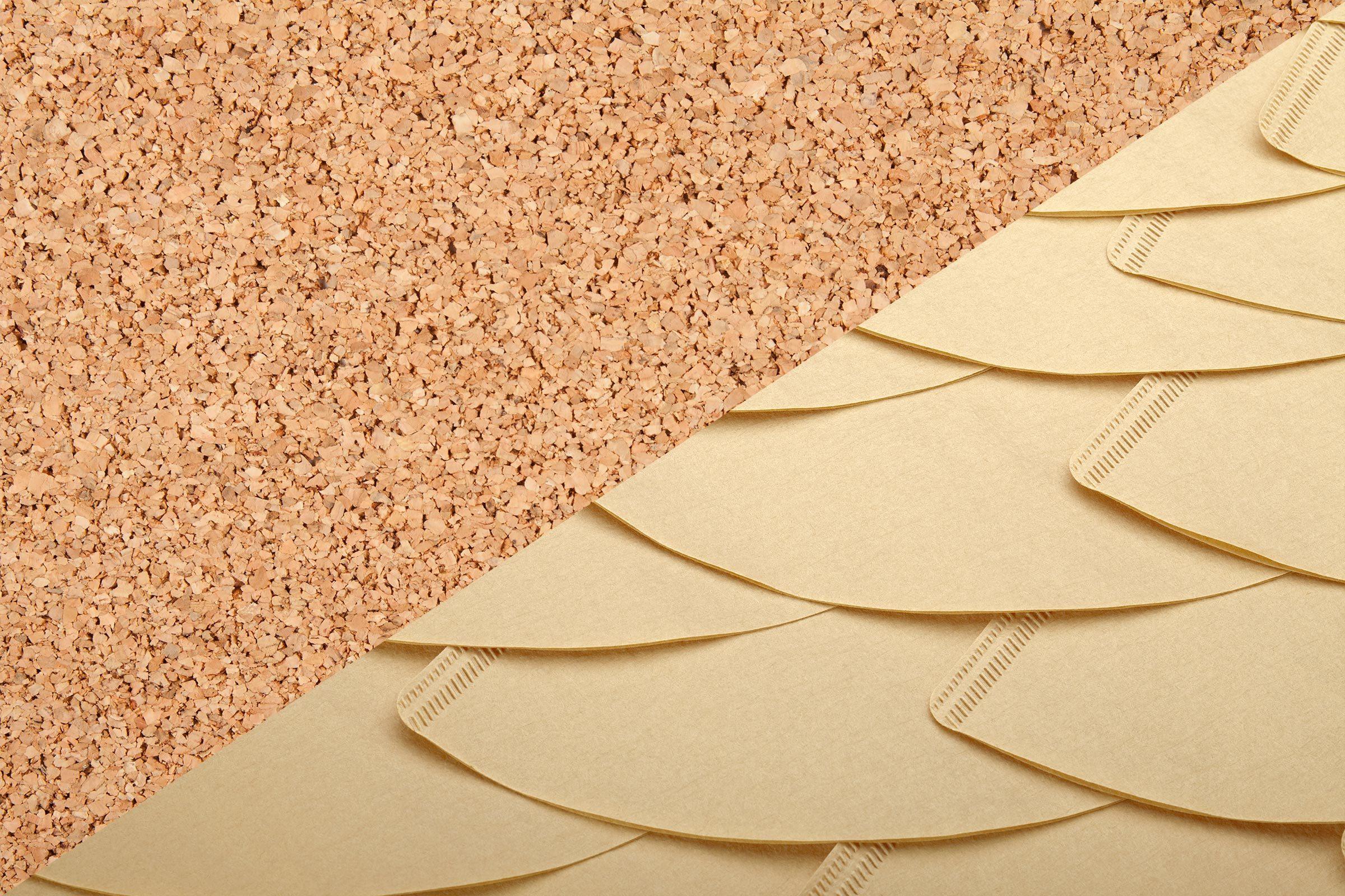Cork crumbs