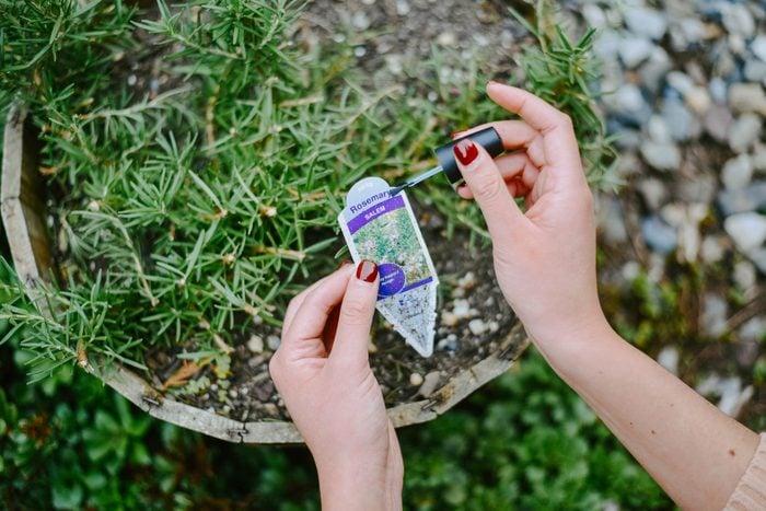 garden label nail polish uses