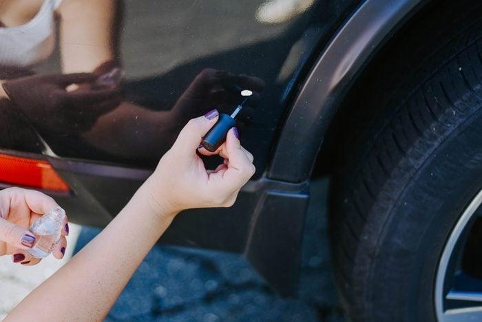 car paint chip nail polish fixes