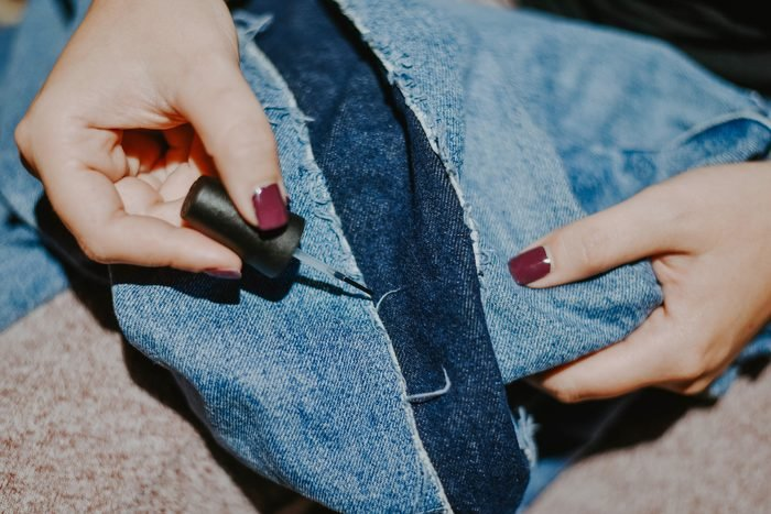 frayed fabric nail polish uses