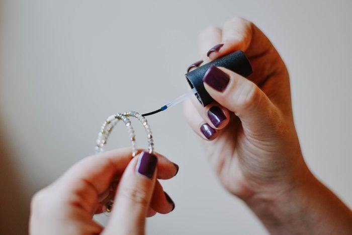 costume jewelry nail polish life hacks
