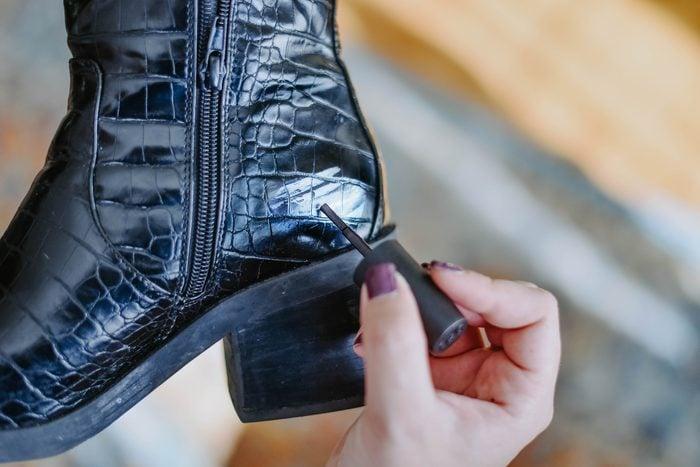 scuffed shoe nail polish fixes nail polish hacks