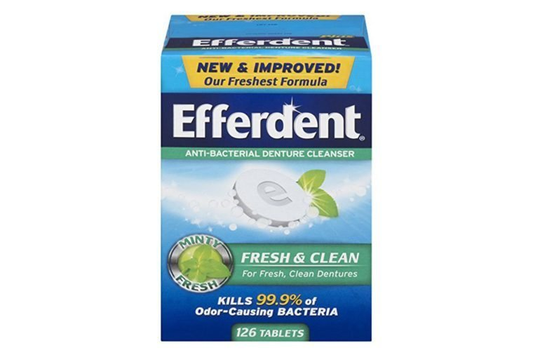 Efferdent Plus Mint Anti-Bacterial Denture Cleanser Tablets | 126 Count | Packaging May Vary