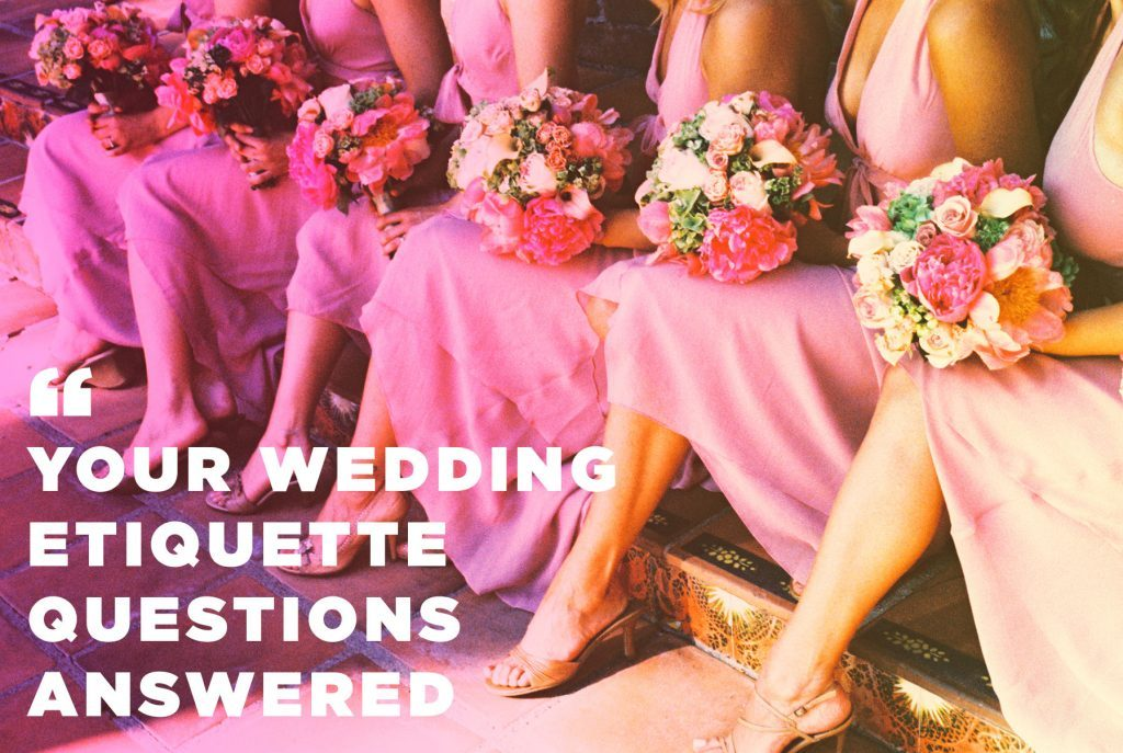 10 Wedding Etiquette Questions Answered Readers Digest