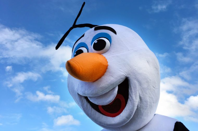AUCKLAND - JUN 18 2017:Olaf snowman, fictional character from the 2013 animated film Frozen, produced by Walt Disney Animation Studios.