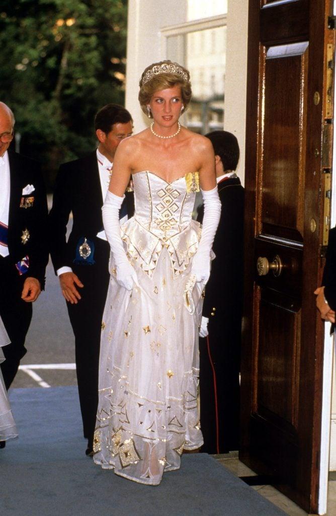 Richard Von Weizsacker state visit, banquet at the German Ambassador's residence, London, Britain - Jul 1986
