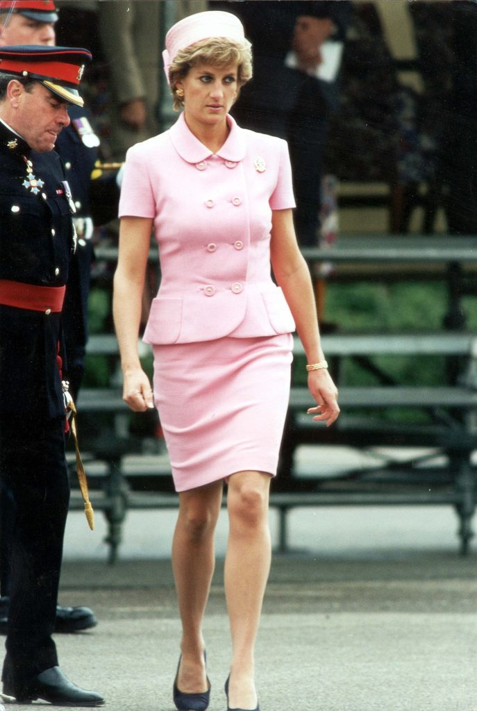 Diana Princess Of Wales Arrives For Inspection Of 2nd Battalion Of The Princess Of Wales Royal Regiment At Howe Barracks Canterbury Kent.