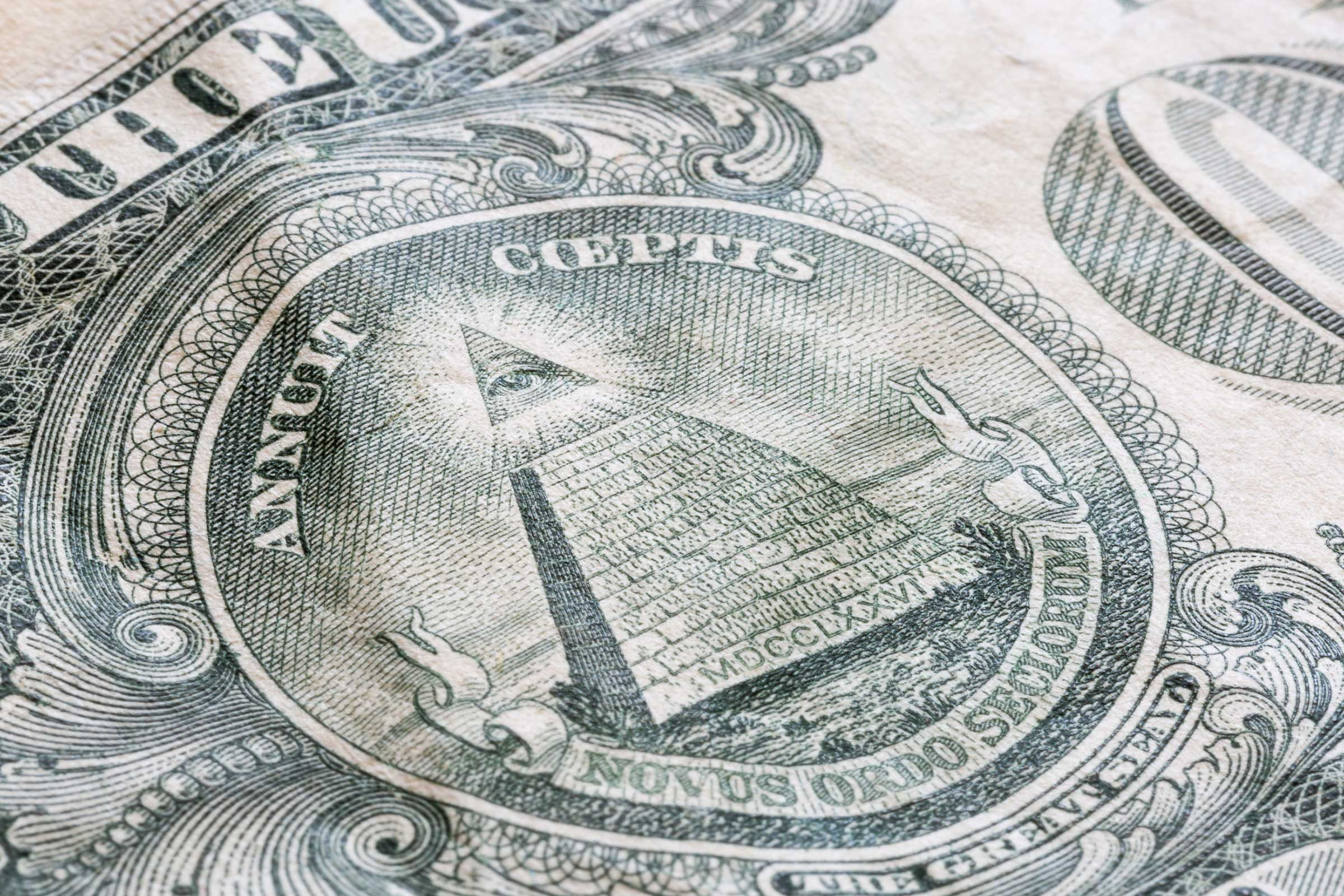 Dollar bill symbols what they mean readers digest letters on pyramids base biocorpaavc Images