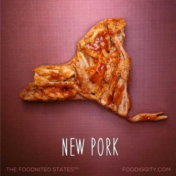 What All 50 States Look Like Designed Out of Food