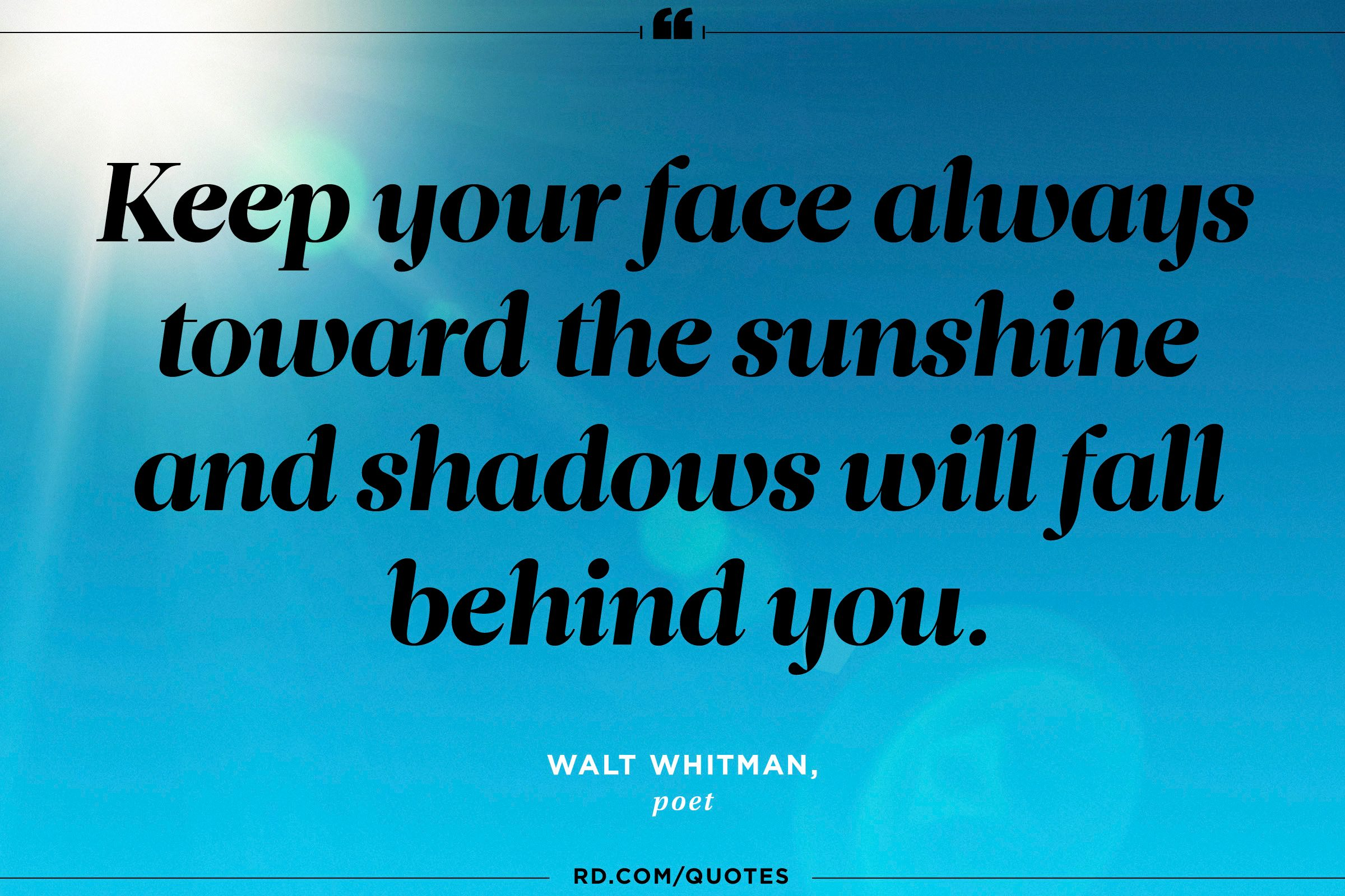 Quotes About Optimism 12 Sunshine Quotes To Cheer You Up  Reader's Digest