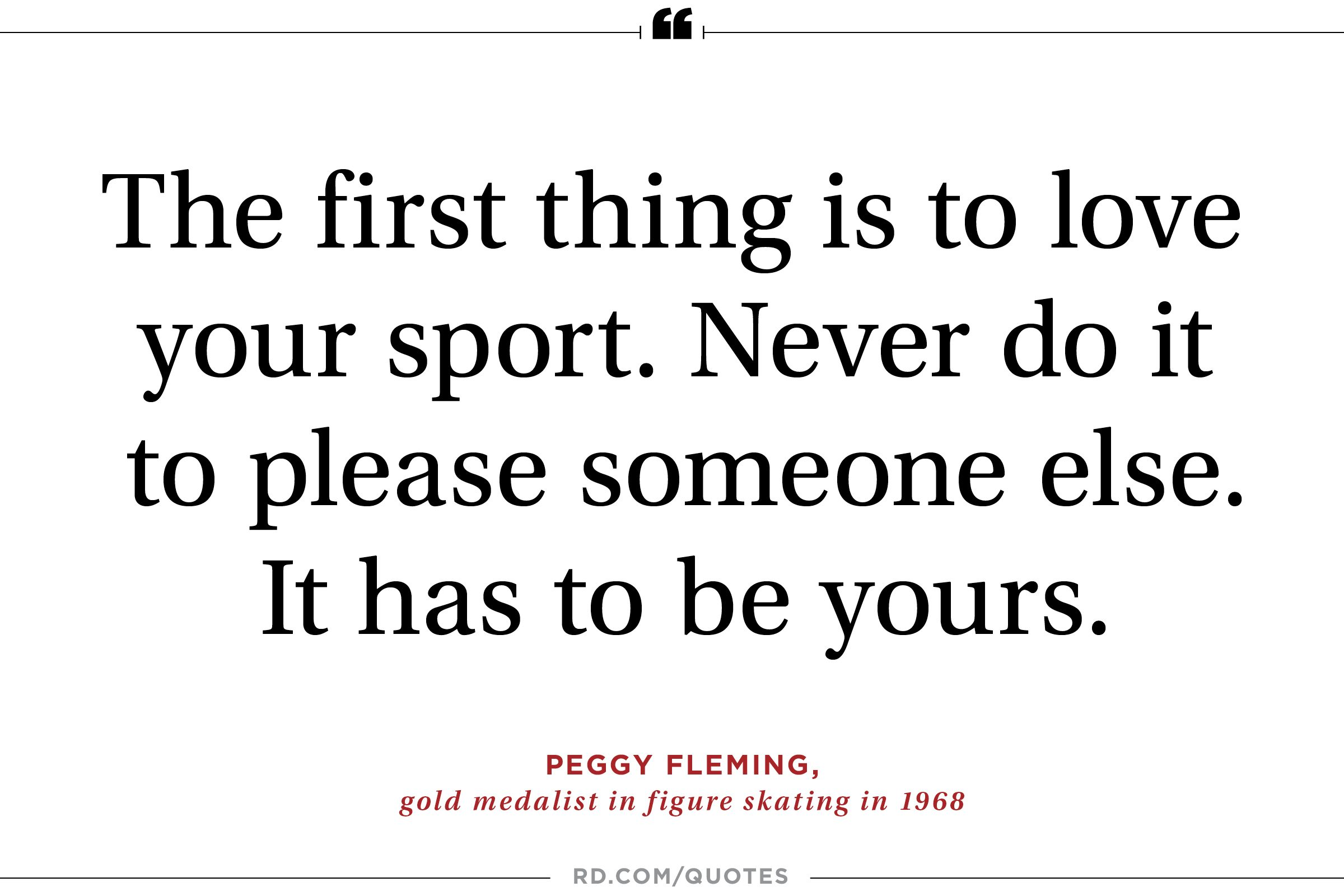 Exceptional Peggy Fleming On Owning Your Passion