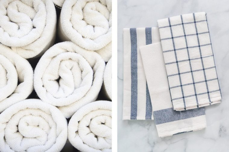 towels bathroom kitchen