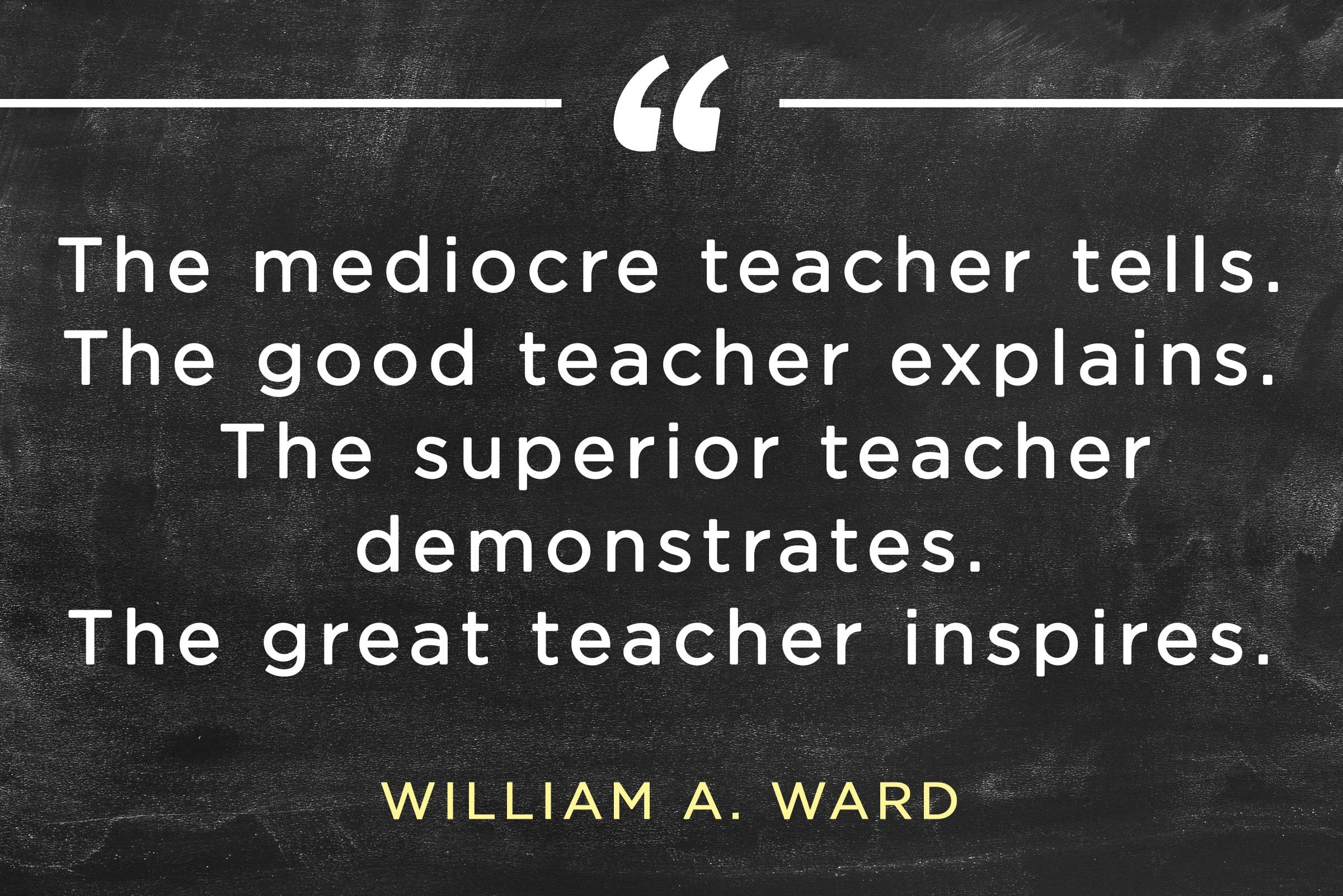 Educational Quotes For Teachers Gorgeous Inspirational Teacher Quotes  Reader's Digest