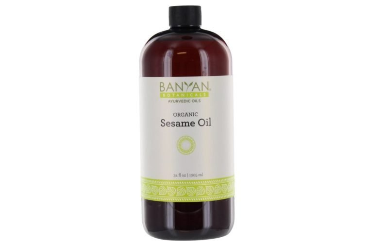 Banyan Botanicals Sesame Oil, 34 oz - USDA Organic - Pure & Unrefined - Ayurvedic Oil for Hair, Skin, Oil Pulling