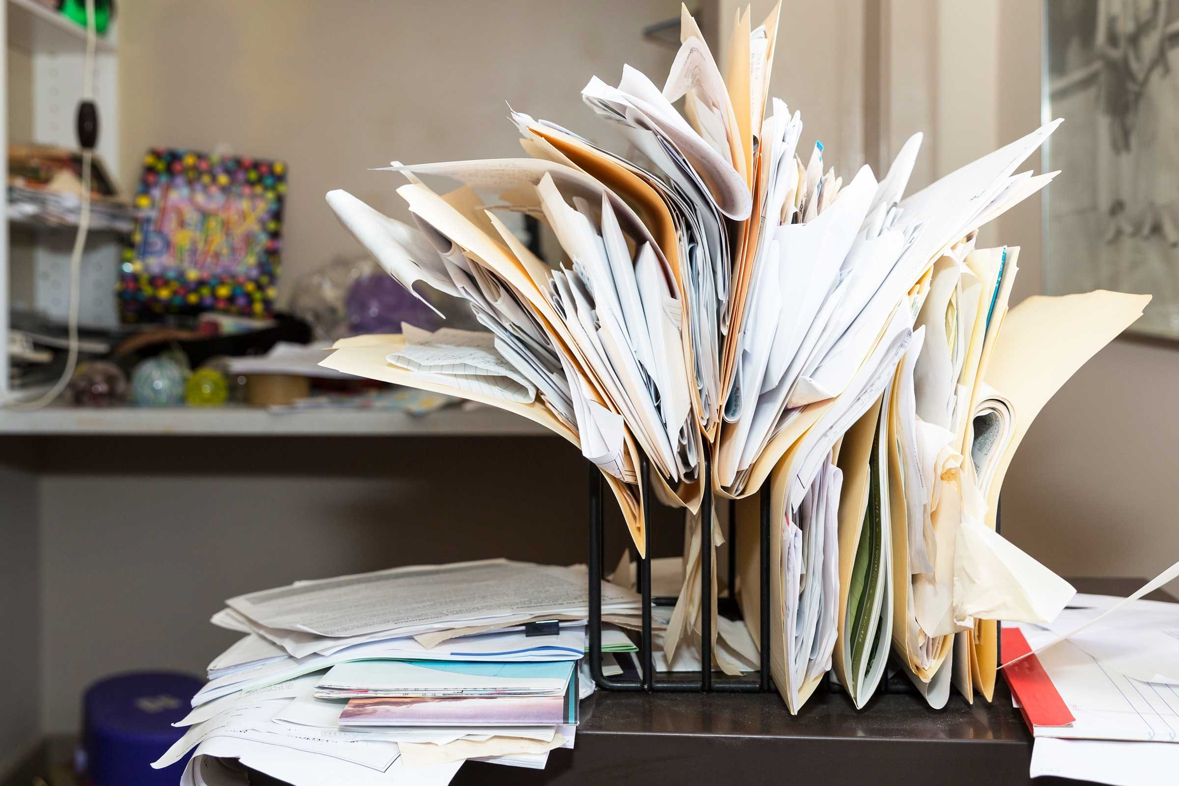 Messy people have their own special organization system