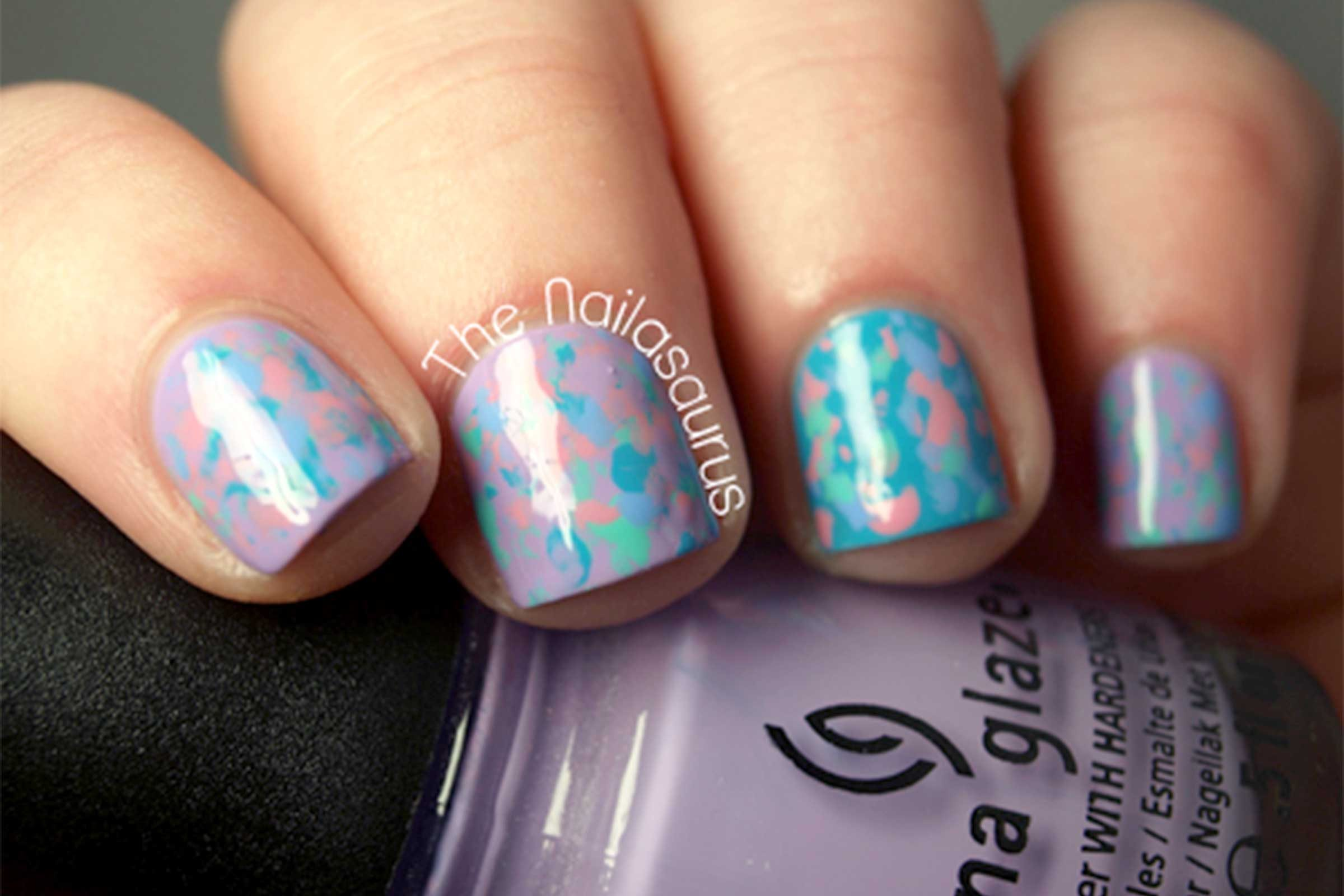 Nail art designs easy hacks for diy manicures readers digest use a toothbrush prinsesfo Images