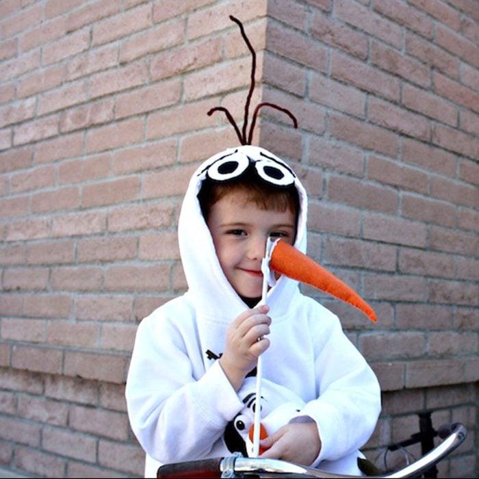 DIY olaf kids halloween costume