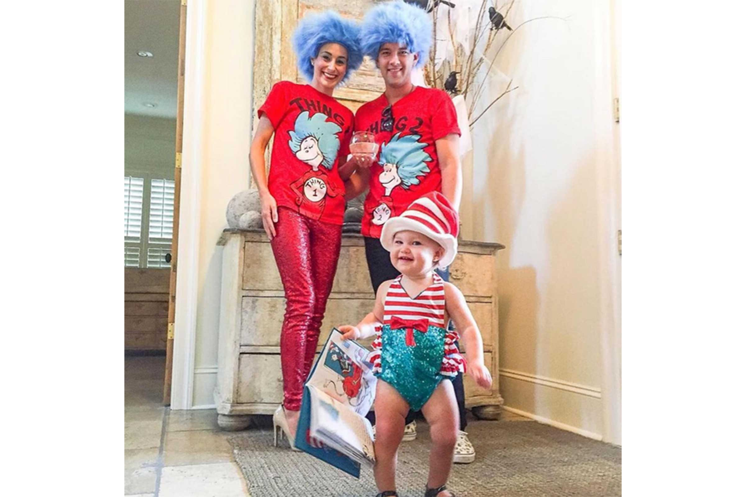 Thing 1 Thing 2 and The Cat in the Hat  sc 1 st  Readeru0027s Digest & Mom and Baby Halloween Costumes | Readeru0027s Digest