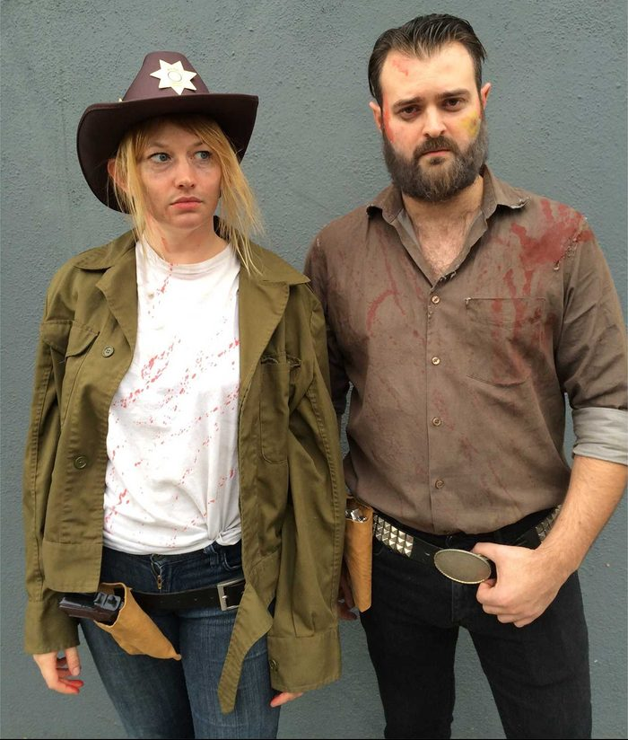 Rick and Carl from The Walking Dead Halloween Costume