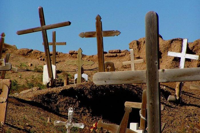Taos Pueblo cemetery, Taos, New Mexico