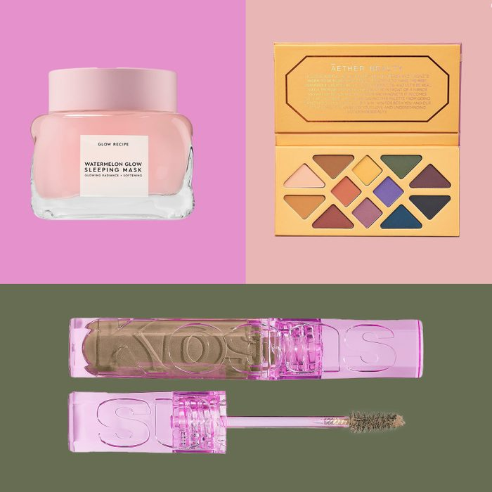 clean makeup brands in three part collage