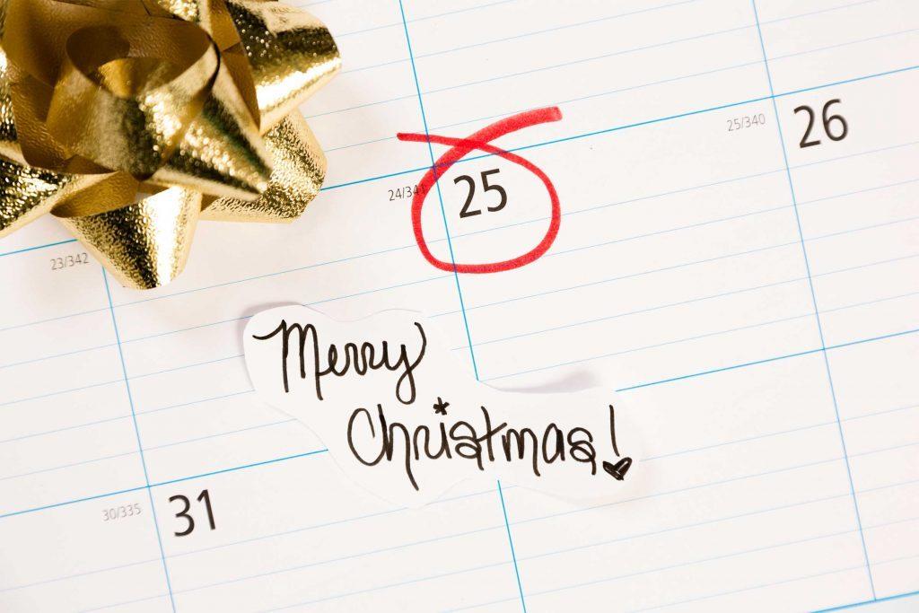 calendar december 25