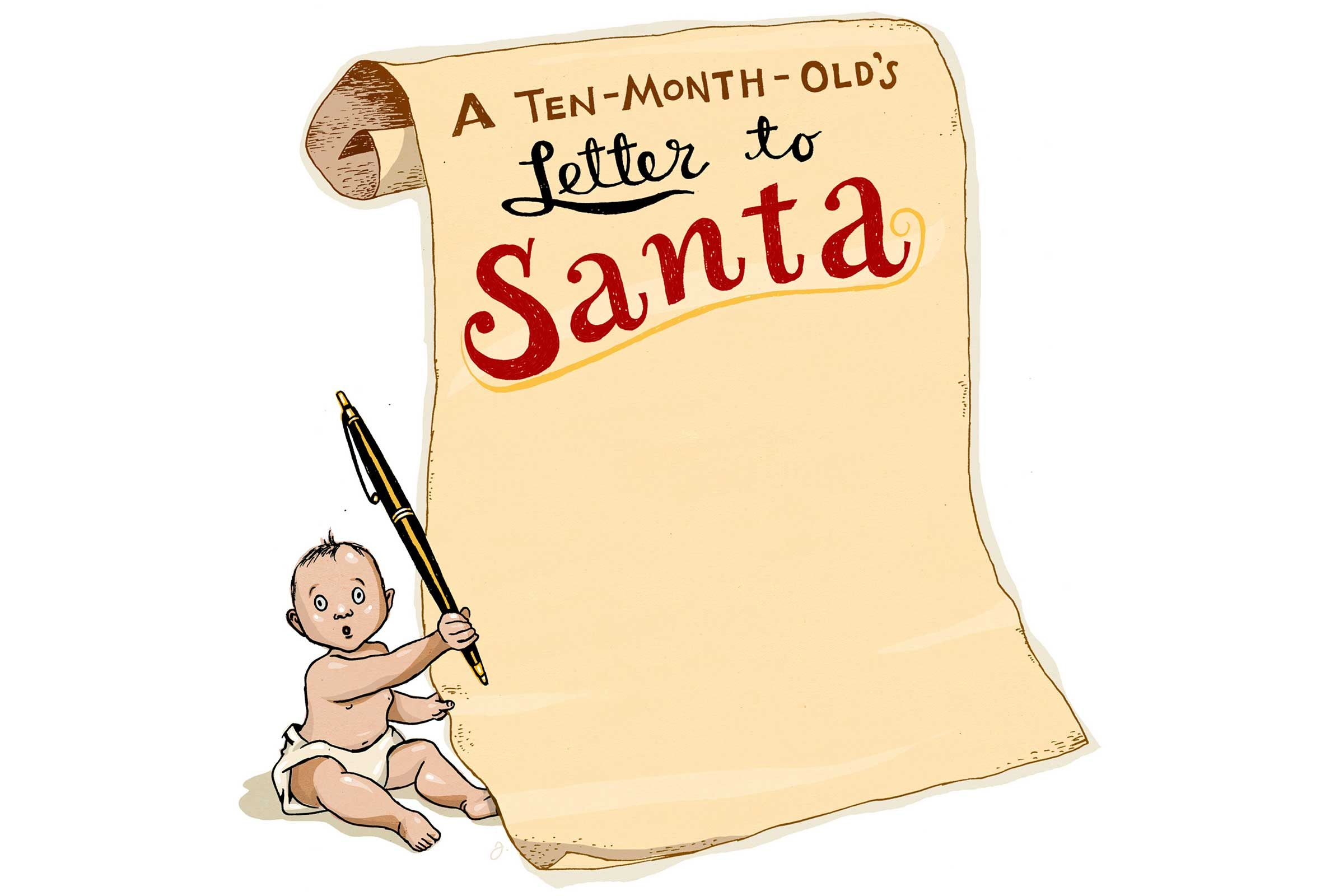 10-Month-Old Baby Writes Letter to Santa | Reader\'s Digest