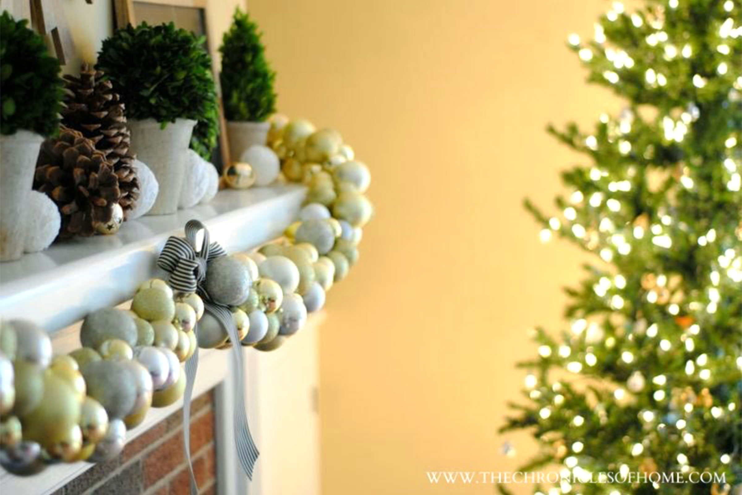 Christmas Mantel Decorating - Off the tree