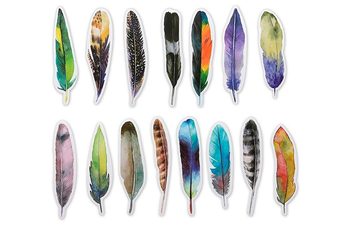 Feather shaped book marks