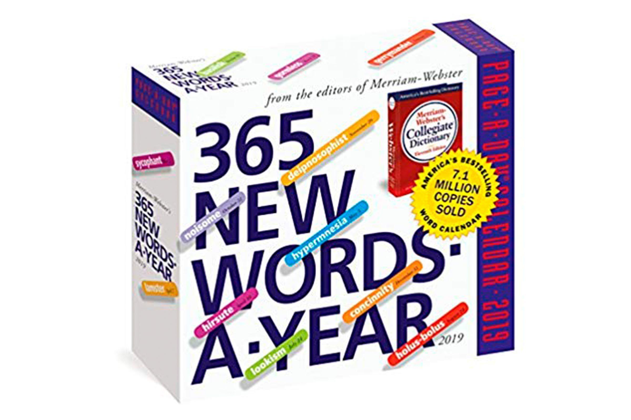 New words calendar