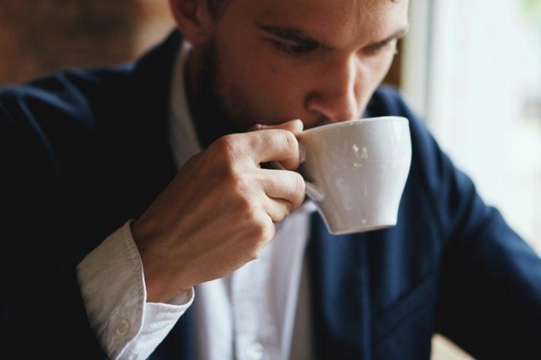 Business man drinking, mug, business man
