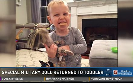 Social Media Strangers Help Return Military Doll to Son of Deployed Soldier