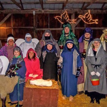 Wow! Four Generations of This Family Participate in a Live Nativity Every Year