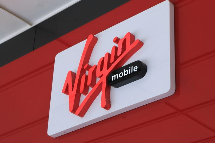 MELBOURNE AUSTRALIA - DECEMBER 13, 2014: Virgin Mobile company Australia - Virgin Mobile is a wireless communications brand used by eight independent brand-licensees worldwide.