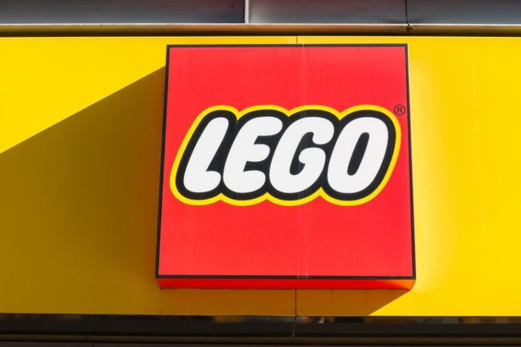 COLOGNE, GERMANY OCTOBER, 2017: Lego logo on a store front. Lego is a line of plastic construction toys that are manufactured by The Lego Group, a privately held company based in Billund, Denmark.