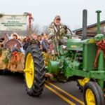 Why This Town's Featured Christmas Decoration Is a Tractor