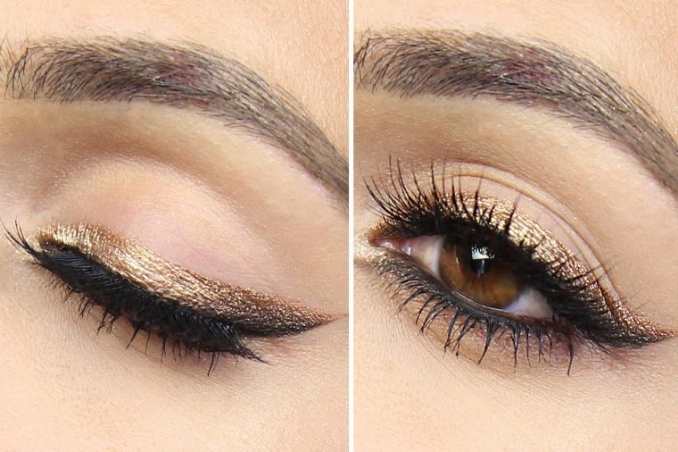 how to get cat eye look with eyeliner