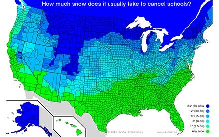 This Is How Much Snow It Takes to Shut Down Schools Across America