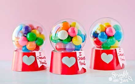 These Adorable Bubblegum Machine Valentines Are Almost Too Cute to Give Away