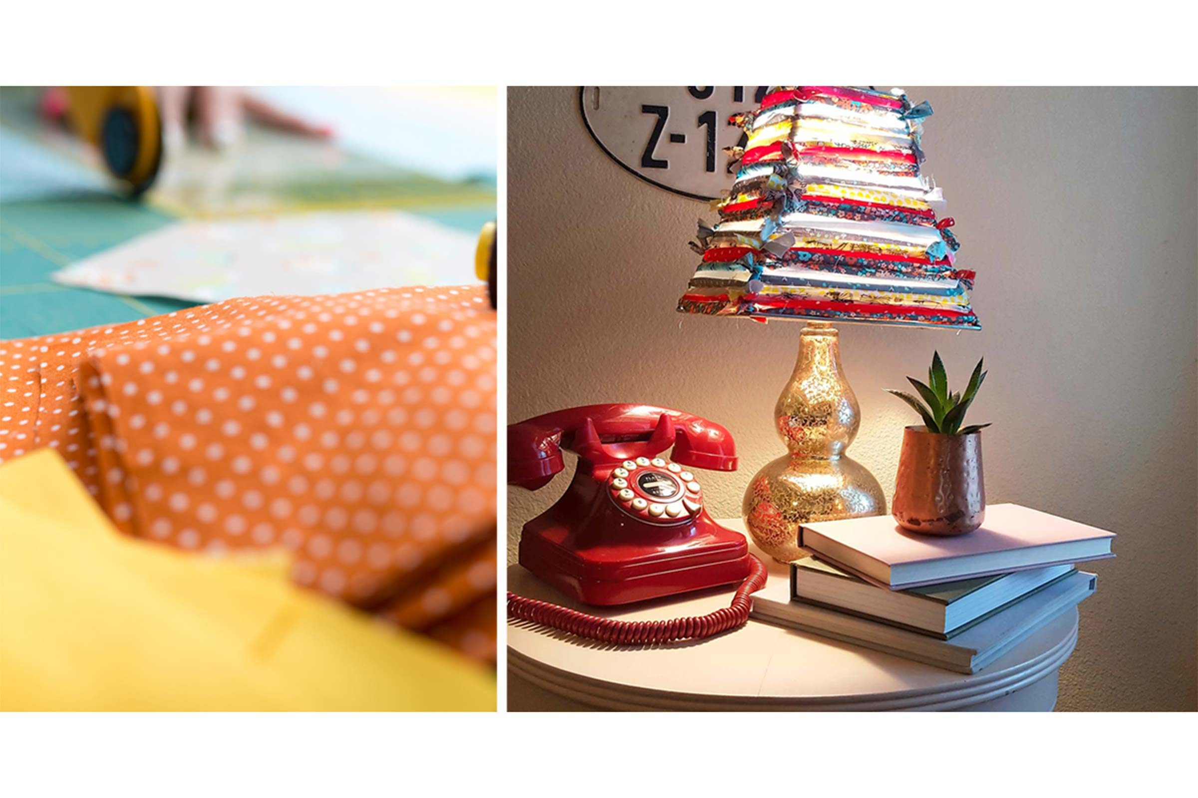 Turn Old Fabric Scraps into a Colorful Lampshade in 3 Easy Steps