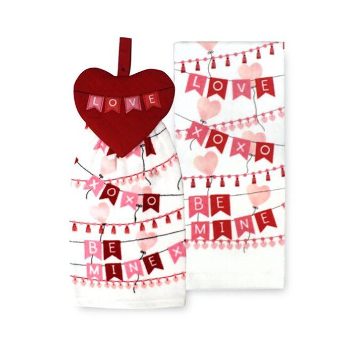 valentines towels