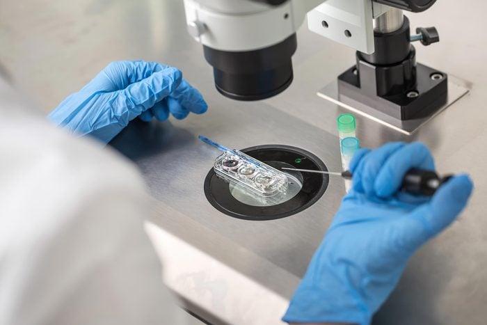scientist medical lab test