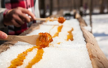 Your New Favorite Dessert: Hot Maple Syrup Poured on Fresh Snow