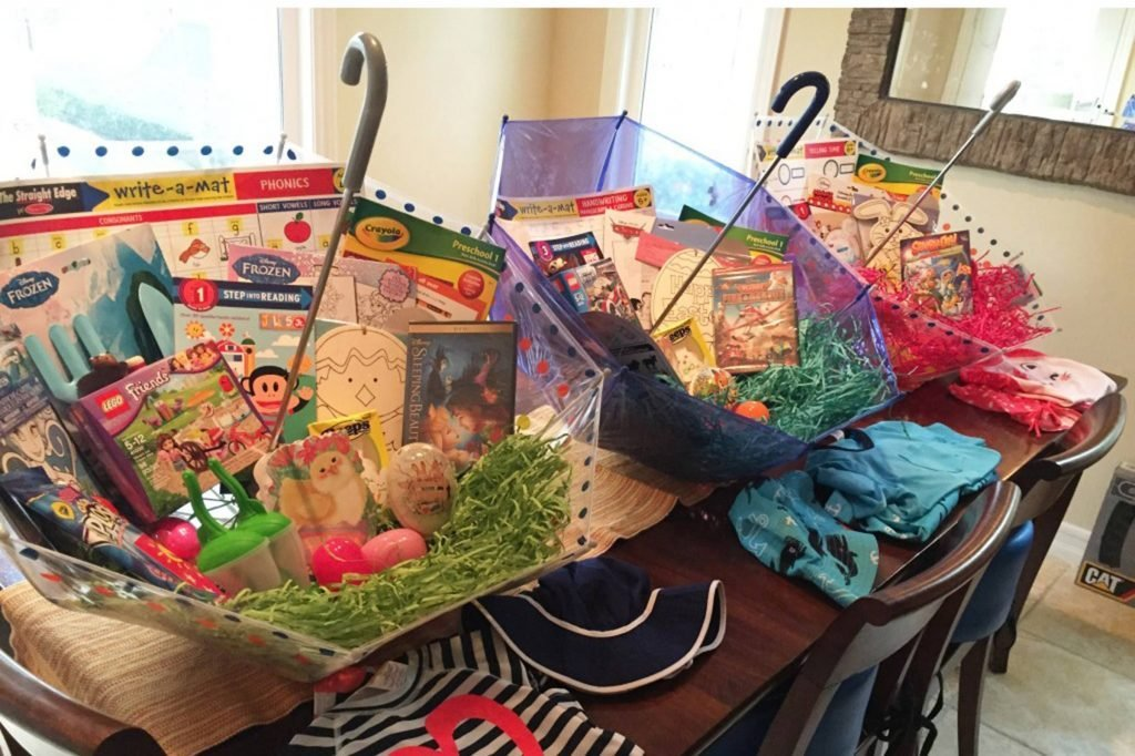 15 easter basket ideas that are easy fun creative readers digest easter baskets umbrella barb taft negle Images