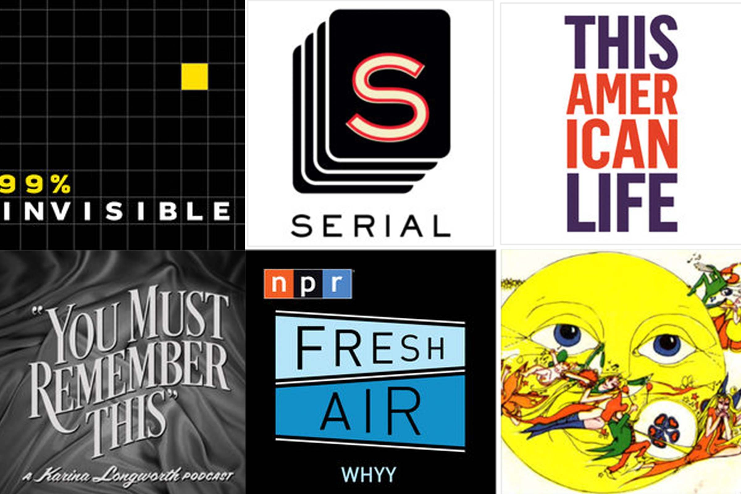 collection of podcast covers