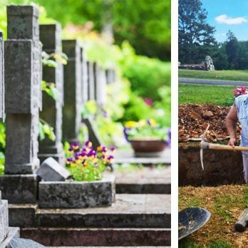 The Local Gravedigger Who Saves Lives on His Days Off